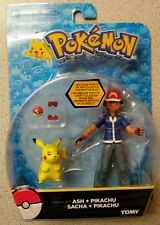 Pokemon ASH PIKACHU ACTION FIGURE TOMY NISB 13 POINTS ARTICULATION