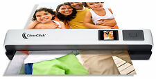 ClearClick Portable Photo & Document Color Scanner with Feeder, LCD, & Software