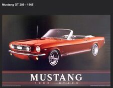1965 Mustang GT 289 Convertible The Best One Done! Car Poster!Own It! XMAS DEAL