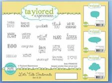 Taylored Expressions Cling Stamp/Dies LET'S TALK SENTIMENTS & 3 BUBBLES ~TEMS103
