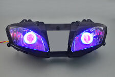 MOTOR Projector Headlight Halo Xenon Angel Devil Eye Kit For Yamaha YZF R6 06-07