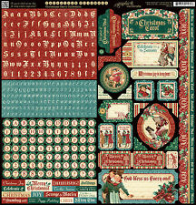 Graphic45 A CHRISTMAS CAROL 12x12 Sticker Sheet scrapbooking VINTAGE