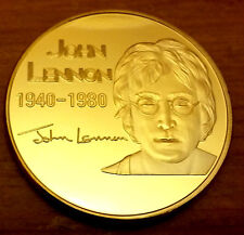 JOHN LENNON Gold Coin Beatles Pop Music Rock & Roll London Singer Legend uK usa