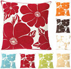 Poppy Cushion Covers Chenille 43 x 43cm Floral Cushion Covers Scatter Cushions