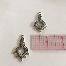 Sterling Silver Chandelier Fancy Earring Finding  Component  2 pc (CHE16)