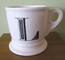 anthropologie initial alphabet monogram coffee tea mug l