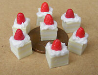 1:12 Loose 7 Strawberry Lemon Slices Dolls House Miniature Cake Accessories PL38