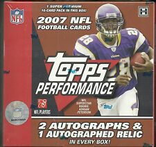 2007 Topps Performance Factory Sealed FB HOBBY BOX   Adrian Peterson AUTO RC ?