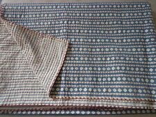 Kantha Throw Handmade Block Print Quilt Patch Work Bed Cover Let Indian