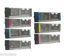 Wide Format Ink 7 Cartridge Set Compatible for Epson Stylus 4000 9600 Pigment
