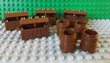 LEGO 4 Treasure Chests & 4 Barrels in Brown Pirate Ship Play Set 2489 4738c01