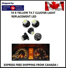 10x T5 T4.7 5050 1SMD YELLOW  LED Bulbs Dashboard Cluster Gauge Side Light DC12V