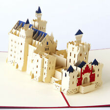 3D Pop Up Greeting Cards Neuschwanstein Castle Birthday Thank You Father's Day