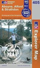 Aboyne, Alford and Strathdon - OS Explorer ACTIVE Map 405 (NEW 2007 folded)