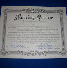 Fake Marriage License Joke Wedding Gift Prank Certificate Bachelorette Party
