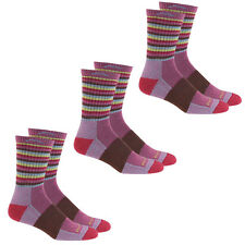 Darn Tough Women's Merino Wool Micro Crew Stripe Sock (Plum - S) - 3 Pack