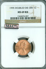 1995 DOUBLE DIE LINCOLN CENT NGC MAC MS69 RED FINEST REGISTRY POP-18 RARE *