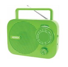Jensen MR-550G Portable Am / Fm Radio with Aux Line in - Green