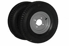 "Pair of 400 X 8"" Trailer Wheels with High Speed Tyres. *Next Day Delivery*"