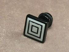 1 Piece Men's Stainless Steel Cool Unique Black Square Stud Earring