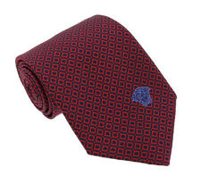 Versace Bordeaux/Blue Woven Chain Grid Tie