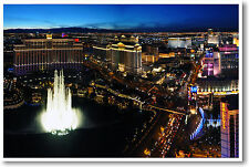 The Strip - Las Vegas Nevada - America Travel Skyline Night Print - NEW POSTER