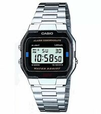 Retro Vintage Silver Casio Watch A163wA-1qes *brand New* Mens Gents Ladies