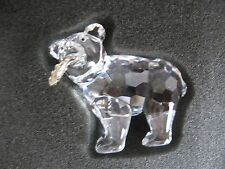 "Swarovski - GRIZZLY CUB - BEAR - MINT - Rhodium Fish - BOX - 2 1/4"" Long"