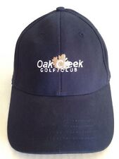 Oak Creek Golf Club Dark Blue 100% Cotton M/ L  CAP HAT