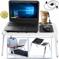 PORTABLE FOLDING PC LAPTOP DESK ADJUSTABLE PICNIC TABLE STAND TRAY For BED SOFA