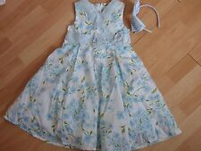 NWT GIRLS GYMBOREE SZ 5 DRESS, HEADBAND SPRING CELEBRATIONS