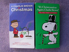 Lot of 2 Classic Charlie Brown Christmas VHS Movies Great Family Entertainment