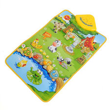 Music Sound Farm Animal Kids Baby Children Play Playing Mat Carpet Playmat Toy