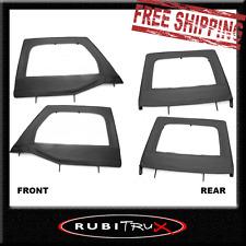BOTH FRONT AND REAR SET Soft UPPER DOORS Half Doors Rugged Ridge Jeep JK 2007-16
