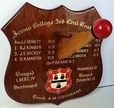 Cambridge JCBC coxed8 trophy Jesus College 3rd Lent Boat 1974 Cadwalladar Club