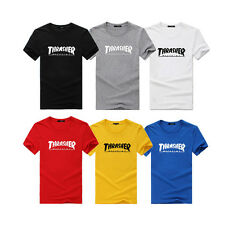 Thrasher T Shirt Flame Skateboard Magazine Men Women Kids Top Xmas Christmas Tee