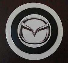 SELF CLING TAX DISC HOLDER FITS any car mazda   white pb