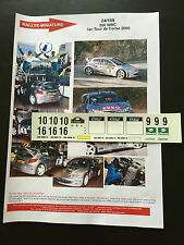 DECALS 1/24 PEUGEOT 206 WRC MARCUS GRONHOLM RALLYE TOUR DE CORSE 2000 RALLY