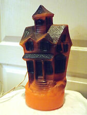 Vintage Halloween Haunted House 1969 Empire Light-up Orange Plastic Blow Mold
