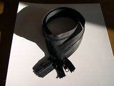 70cm  black large zip  closed ended