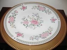 Trisa China Co #1560 Porcelain Plates  Pink floral REPLACEMENTS
