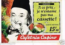 Publicité advertising 1991 (2 pages) Caféteria Casino