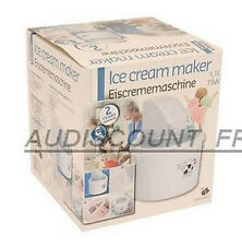 MACHINE A GLACE PREPARATION SORBETIERE + RECETTE 1.1L LUXE NEUF  93