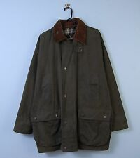 Vintage Wax Jacket In Green Hooded Waterproof Mc Orvis Made In England Large