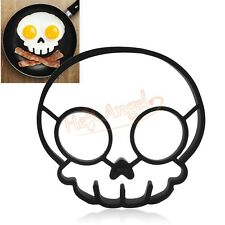 Silicone Skull Egg Fried Mold Shaper Ring Kitchen Cooking Helper Pancake Mould