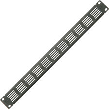 "19"" 1U Vented Blanking Rack Patch Panel–Module Cover Plate Mount–Equipment Case"