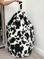 FAUX FUR LARGE SIZE NEW LUXURIOUS ADULTS COW BEAN BAG / BEANIE COVER ONLY.