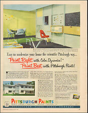 1950 vintage AD PITTSBURGH PAINTS Interior Exterior  model room shown  (073116)