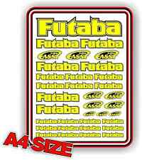 FUTABA RC STICKER SET DECAL HELI AIRCRAFT NITRO ELECTRIC CAR 1/10 YELLOW DRIFT