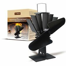 2016 Eco Friendly Heat Powered Wood Log Burner Top Stove Fan De Vielle Heritage